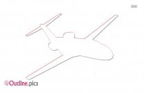 Aircraft Clip Art Vector Outline