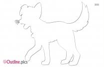 Cartoon Dog Outline Image