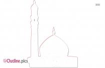 Animasi Masjid Outline