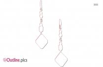Apatite Dangle Earrings Outline Image