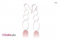 Apatite Earrings Outline Sketch
