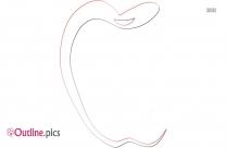 Apple Border Outline Image