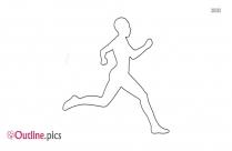 Girls Running Outline