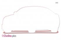 Audi Car Outline Vector Image
