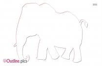 Baby Elephant Baby Cartoon Animals Outline