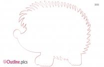 Skunk Cartoon Outline Image