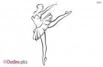 Ballerina Drawing Outline