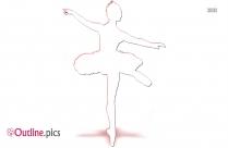 Ballet Dancer Vector Outline