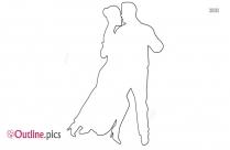 couple dance image outline