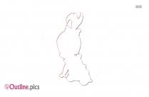 Bamm Bamm Rubble Cute Outline Sketch