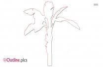 Banana Tree Drawing Outline Design