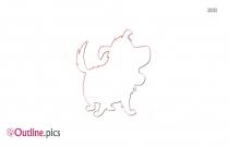 Cartoon German Shepherd Outline Drawing