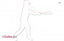 Baseball Player Outline