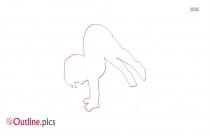 Basic Tumbling Clipart || Tumbling Gymnastics Outline Image