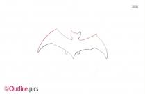 Bat Flying Away Outline Image