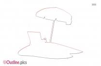 Beach Outline Chair Clip Art