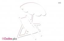 Cartoon Umbrella Outline Image