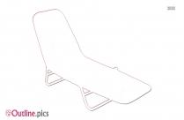 Beach Chair Reverse Clip Art