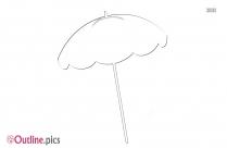 Beach Umbrella Outline Clip Art