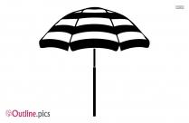 Good Beach Umbrella Outline