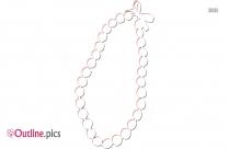 Beaded Necklace Outline Design