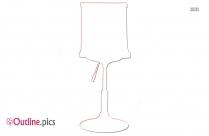 Bedside Lamp Outline Free Vector Art
