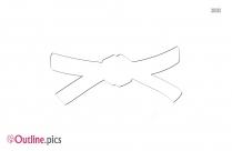 Belt Vector Outline Clipart