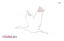 Blue Heron Outline Image