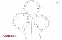 Japanese Lily Flower Outline Illustration