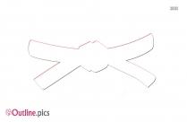 Black Belt Vector Outline Image