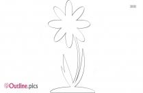 Cartoon Sweet Pea Flower Outline