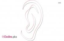 Black Human Ear Outline Outline Image