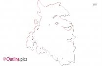 Black Mega Delphox Outline Image