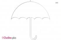 Umbrella Outline Clip Art
