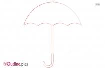 Cartoon Umbrella Outline Background