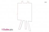 Blank Paint Easel Clip Art Image