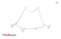 Blank Tent Clip Art Outline