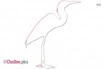 Endangered Bird Outline Clip Art