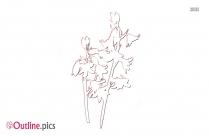 Lavender Bouquet Outline Clip Art
