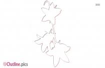 Flower Snowflake Outline Clip Art