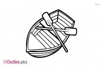 Sailing Boat Outline Clip Art