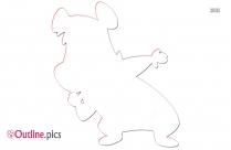 Boo Boo Bear Outline Sketch