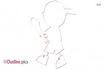 Tennis Outline Design, Cartoon Sports Image