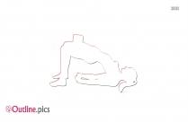 Yoga Pose Outline Image