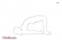 Yoga Pose Vector Outline