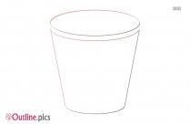 Bucket Outline Illustration