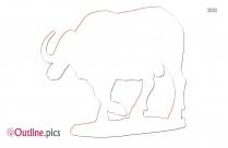 Buffalo Outline Vector