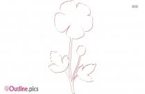 Buttercup Flower Outline Free Vector Art