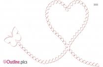 Cartoon Butterfly Heart Outline