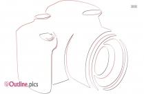Camera Clip Art Outline Image